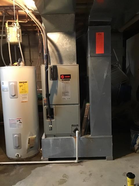 Galena, OH - Air handler heat pump install
