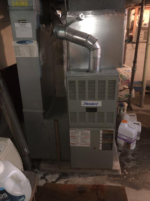Etna, OH -  Performed furnace tune up on Gas furnace. Due to age of unit, customer interested in quote for furnace replacement.