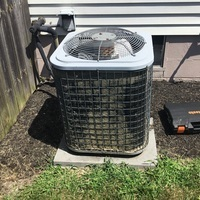Pickerington, OH - 2010 Comfortmaker AC not cooling down. Cleaned the outdoor condenser coil. Replaced the Dual Capacitor 45+5 as well as the Contactor 1 Pole 24v coil and added hard start. System is cooling at this time.