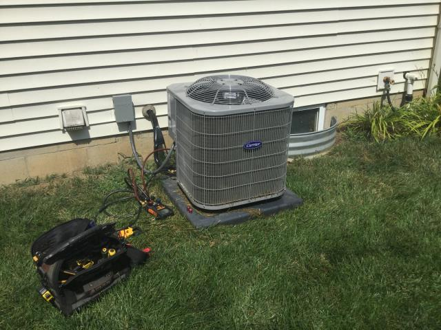 Delaware, OH - Performed Our Special AC Tune-Up On Carrier AC System