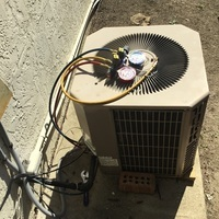 Columbus, OH - Low charge on  2014 York AC unit Tech added 1.5 lbs of freon unit operating in cooling as intended.    Job #69554