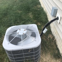 Lewis Center, OH - 2010 Carrier A/C System leaking due to clog in condensate piping. Cleaned out the condensate pipe and checked refrigerant levels. System is overcharged. Recommended to recover excess refrigerant to allow system to work best.