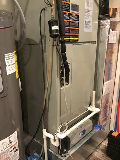 "Johnstown, OH - Furnace tune - up and safety check performed on a  Carrier ""Infinity Series"" Variable Speed 3 Ton Electric furnace unit. Confirmed that the system is working within manufacturer specifications.  Pictured is the customer's Carrier Electric Furnace."