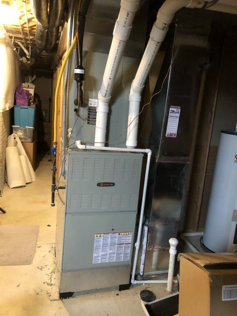 Galena, OH - I preformed a Furnace tune - up and safety check performed on a Trane Gas furnace unit. Confirmed that the system is working within manufacturer specifications.