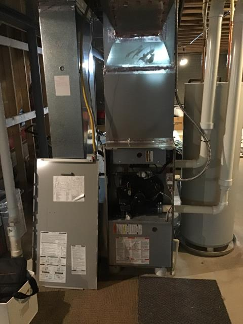 Lewis Center, OH - Following COVID-19 Protocol, wearing mask and gloves and keep activity in the home to a minimum, I Performed A/C tune-up on a 2009 Bryant unit . System is now running a peak performance.