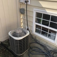 New Albany, OH - Diagnostic Service call on 2004 Bryant Unit. Added R-22 Freon at customers request.