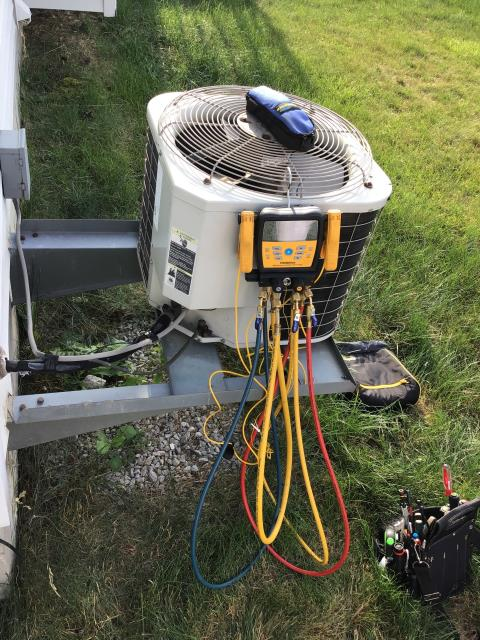 Delaware, OH - I provided an estimate for a new Carrier 13 SEER 2.5 Ton Air Conditioner