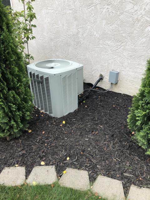 Delaware, OH - Replaced motor surge capacitor on Trane AC. System is cooling properly at this time.