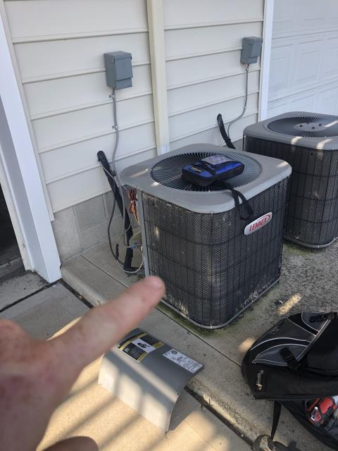New Albany, OH - I replaced the OEM Condenser Fan Motor and Capacitor on a 2008 Lennox Air Conditioner