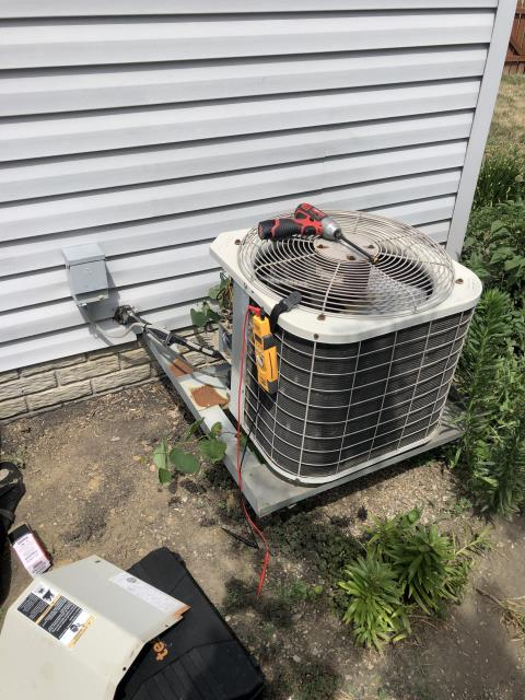 Groveport, OH - Replaced compressor motor surge capacitor on Bryant AC. System is operating properly at this time.