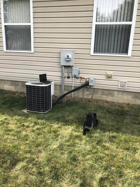 Hilliard, OH - I installed a new Carrier 80% 110,000 BTU Gas Furnace along with a new  Carrier 13 SEER 4 Ton Air Conditioner