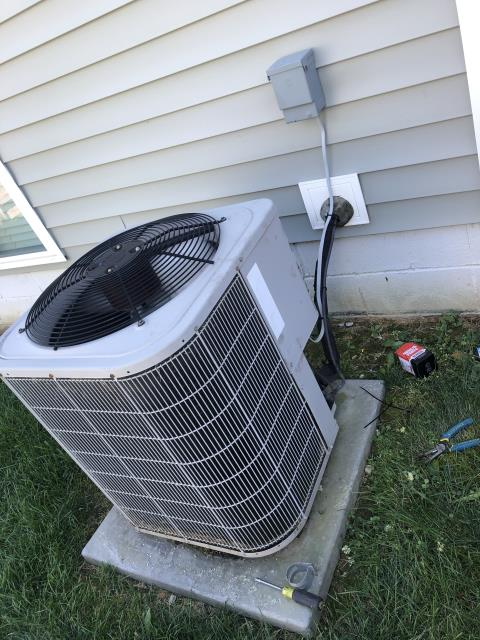 Blacklick, OH - Replaced compressor motor surge capacitor on Bryant AC. System is cooling properly at departure.