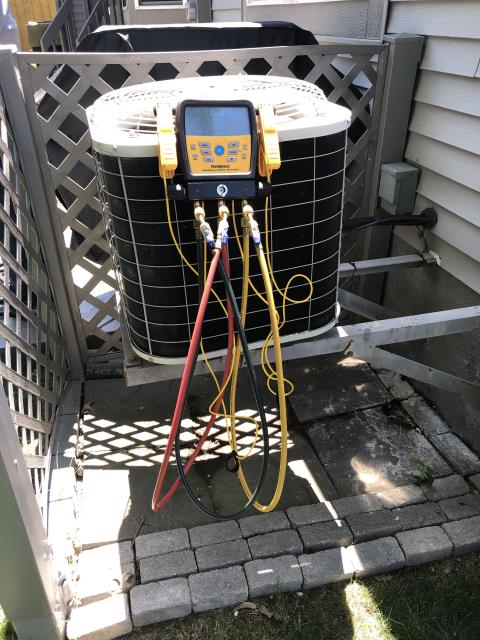 Canal Winchester, OH - Tuneup and safety check on Carrier AC. All is working properly at this time. Customer received military discount.