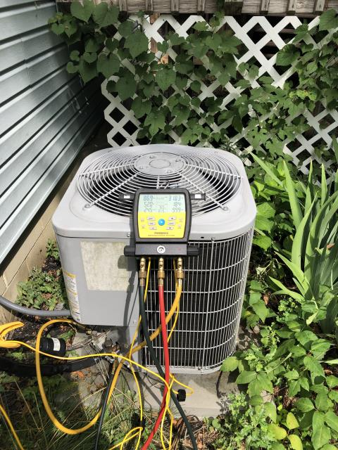 Canal Winchester, OH - Found faulty TXV on Carrier AC. Part has been ordered and will return to install upon arrival.