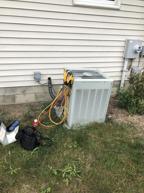 Lewis Center, OH - I replaced the compressor-Motor Surge Capacitor on a 2009 Trane