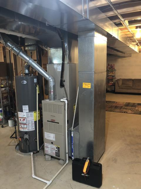 Blacklick, OH - Performing our Five Star Tune-Up & Safety Check on a  2003 Lennox. All readings were within manufacturer's specifications, unit operating properly at this time.