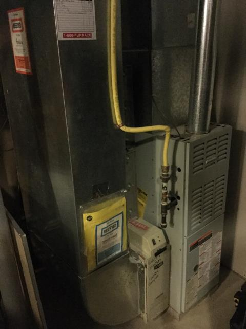 Lewis Center, OH - I am Performing our Five Star Tune-Up & Safety Check on a  1999 Bryant Gas Furnace. All readings were within manufacturer's specifications, unit operating properly at this time.