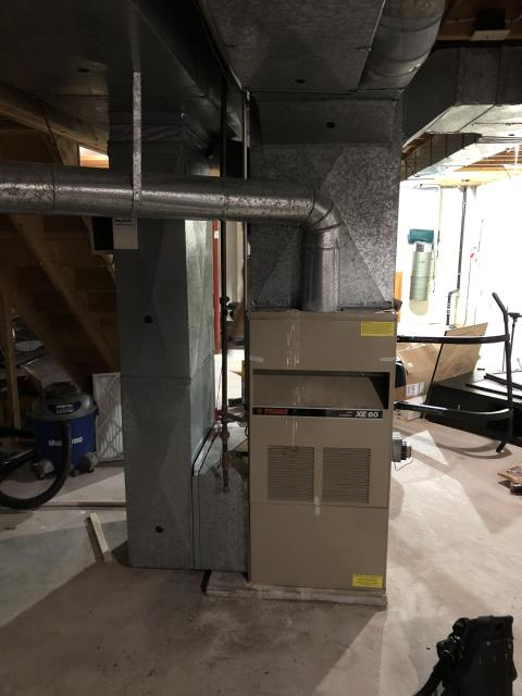 Powell, OH - I provided an estimate for a new Carrier 96% Two-Stage 120,000 BTU Gas Furnace and a new Carrier 13 SEER 5 Ton Air Conditioner