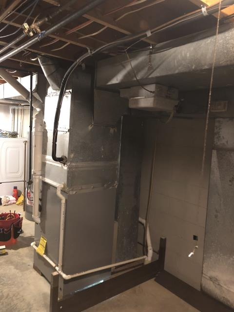 Delaware, OH - Upon arrival found  the 2004 Comfortmaker Propane furnace not operational, after further diagnostic discovered that the inducer motor is seized up, Provided customer with repair and replacement options, Customer is all set for an install for tomorrow, System not operational at departure.
