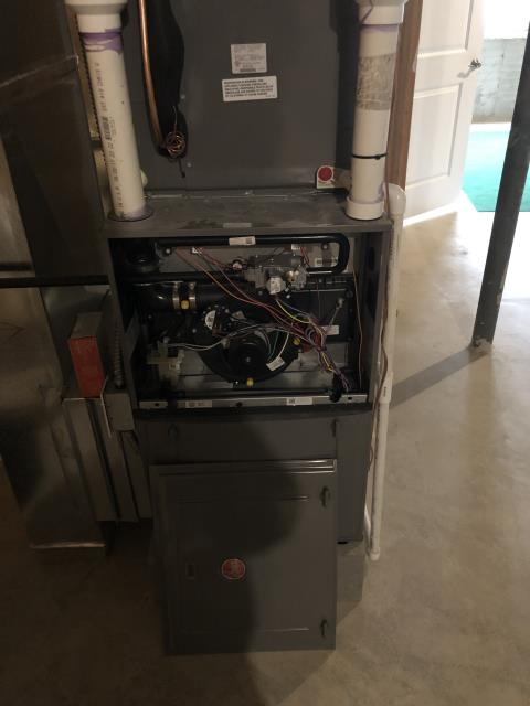 Columbus, OH - I  Replaced the Blower Wheel, Blower Motor, & Cap on the 2017 Rheem