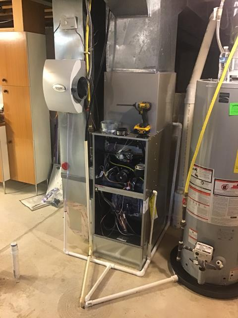 Hilliard, OH - I performed a tune up on a  Carrier Gas Furnace 96% Variable Speed Two-Stage 80,000 BTU