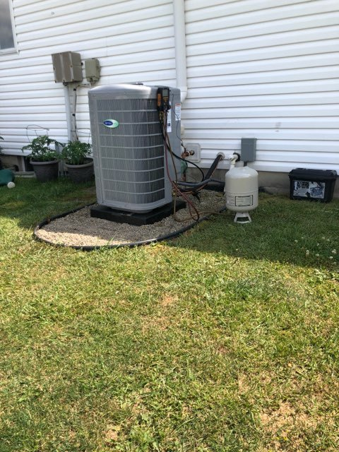 Sunbury, OH - Upon arrival for an in warranty part replacement, I replaced OEM inverter kit on 2020 Carrier Heat Pump, OAT & OST Thermistors, and ran communication wire. System currently heating within specs.