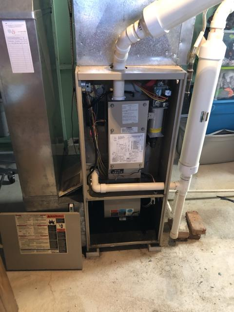 Lewis Center, OH - Upon arrival for service call on 1995 Lennox Pulse furnace, we do not work on this type of system, it has a burned up blower motor. Provided customer with an estimate for furnace replacement and also waiving diagnostic fee. Customer will review and get back with us.
