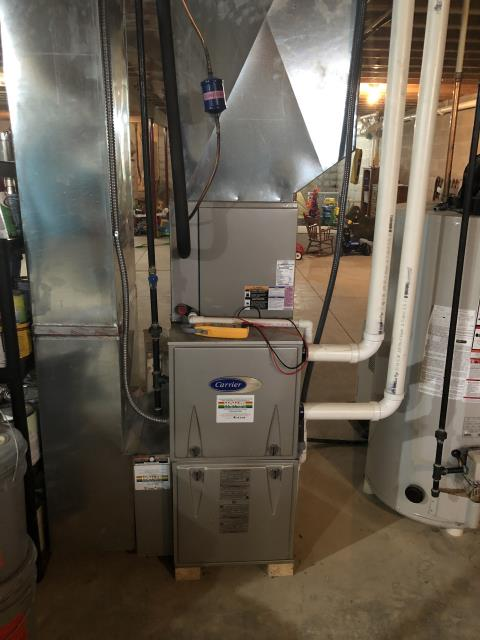 Alexandria, OH - I performed a tune up on a Carrier propane furnace. Everything checked out within manufacturer's specs. Unit operational upon departure.
