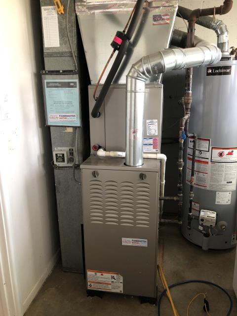 Reynoldsburg, OH - I replaced an in warranty OEM Direct Drive Blower Motor w/Capacitor and Cleaned Blower Motor on 2017 Carrier furnace (pictured below). Customer also purchased an iWave-R Air Purifier and Scheduled Maintenance Agreement with me.