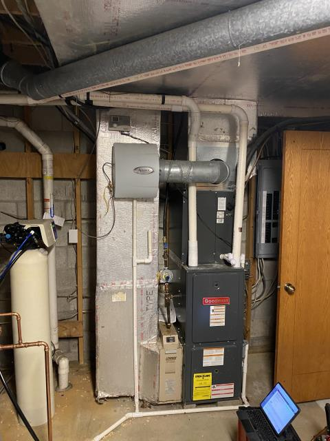 Canal Winchester, OH - Upon arrival for tune up safety check on 2010 Goodman furnace, I found the filter to be dirty and recommend replaced, the heat exchanger had signs of corrosion, the blower motor was dirty, and the flame sensor was pulled and cleaned. Unit operational at time of departure.