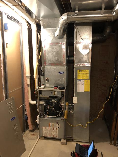 "Blacklick, OH - I provided an estimate on a Carrier ""Infinity Series"" 96% Variable Speed Two-Stage and a Carrier ""Infinity Series"" 19 SEER Variable-Speed 4 Ton Air Conditioner"