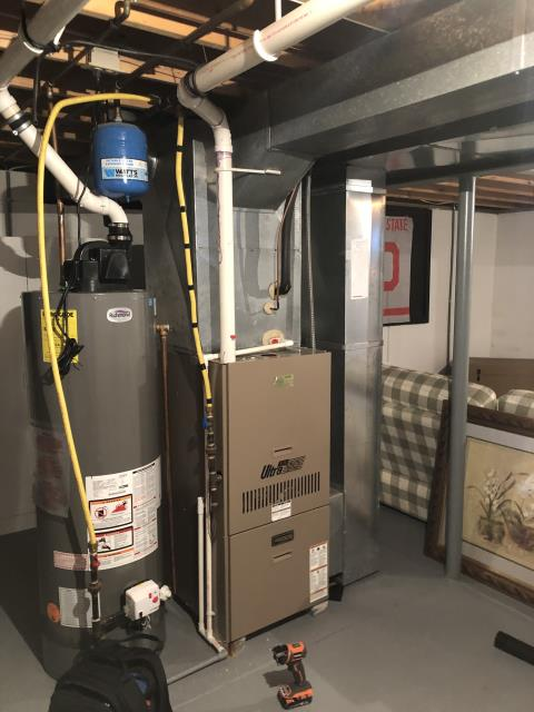 Johnstown, OH - I found the inducer motor, collector box, and exhaust drain boot all needed to be replaced. I advised the customer to replace system due to age of the system and cost of repairs. They agreed and opted to install new system.