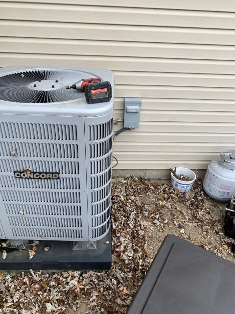 Westerville, OH - Upon arrival for service call on 2016 Concord heat pump, found air handler and heat strips were operational and the condenser was not. After further diagnostic, discovered that the system is in high pressure lockout. Checked air filter and and it was dirty/clogged. Replaced filter with customer provided filter. Checked refrigerant pressures on system and found system extremely over charged. Removed some refrigerant from system. System continued to operate as intended after adjustments. System operational at departure.