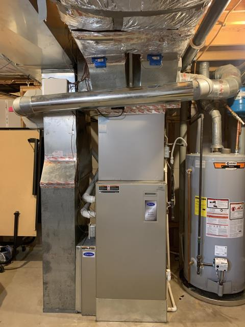 New Albany, OH - I installed a drain trap on an Aprilaire 800 Steam Humidifier attached to a 2010 Carrier furnace.