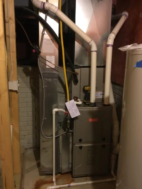 Pickerington, OH - I installed a Honeywell T-6 Programmable thermostat to be compatible with 2016 Bryant HVAC system (furnace pictured below).