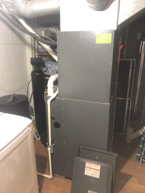 Pickerington, OH - Upon arrival for callback on 2006 ICP furnace, found unit operating as intended. Customer just had questions about wireless module and lights on it.