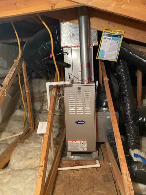 Canal Winchester, OH - Upon arrival for callback on 2020 Carrier furnace, found system operational. I recalled previous codes all indicate overheating. I adjusted fan speed and changed gas pressure from 3.4 to 3.2. I pulled filter found it to have what seems like drywall dust on it even though customer just replaced, put new filter in. System operating as intended upon departure. Recommended customer stay with glass floss filters for system as well.