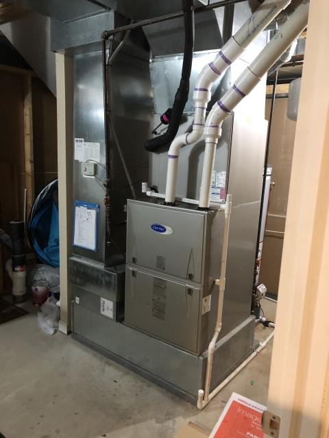 Lewis Center, OH - Upon arrival for tune up safety check on 2020 Carrier furnace, everything checked out normally per routine maintenance. System is working within manufacturers specifications. System heating properly upon departure.