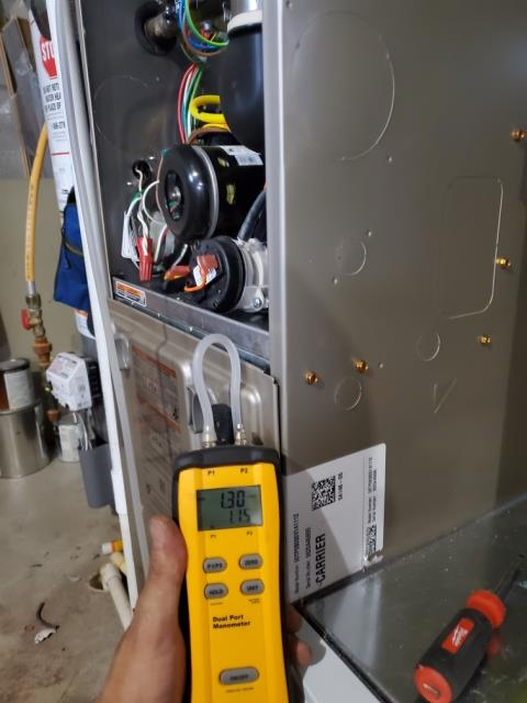 Groveport, OH - Upon arrival for tune up safety check on 2020 Carrier furnace, everything checked out normally per routine maintenance. System is working within manufacturers specifications. Customer did purchase new filter with us which I replaced. System heating properly upon departure.