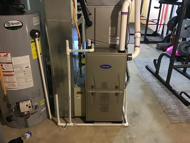 Powell, OH - I completed a diagnostic on an a Honeywell Humidifier on a Carrier gas furnace. Determined that the housing the holds the pad is bad causing a leak. Shut off Humidifier and made customer aware that part needs ordered to repair.