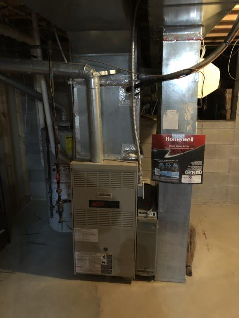 Reynoldsburg, OH - I completed a diagnostic on a 2001 Lennox gas furnace. Determined that Blower motor bracket has broken off and damaged the blower wiring and blower wheel. Provided options for customer. System was not operational at time of departure.