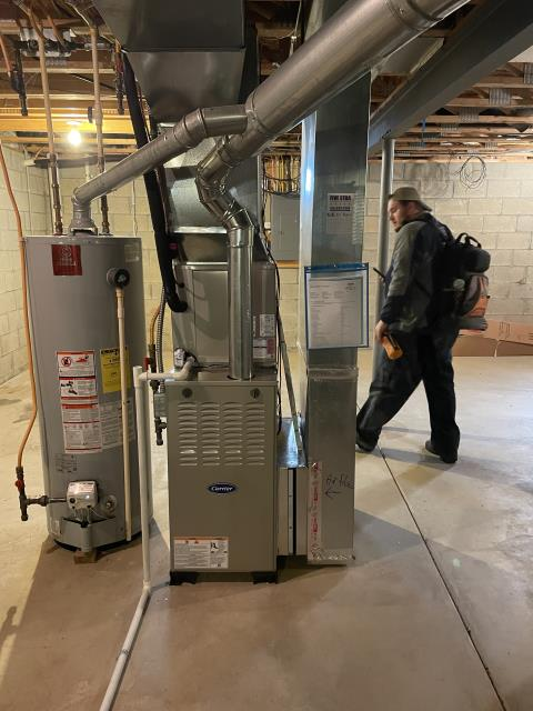 Blacklick, OH - I completed a diagnostic on a 2021 Carrier Gas Furnace. Upon inspection I found the thermostat was bad and not sending a signal to the furnace to come on. Replaced thermostat, system was operational at time of departure.