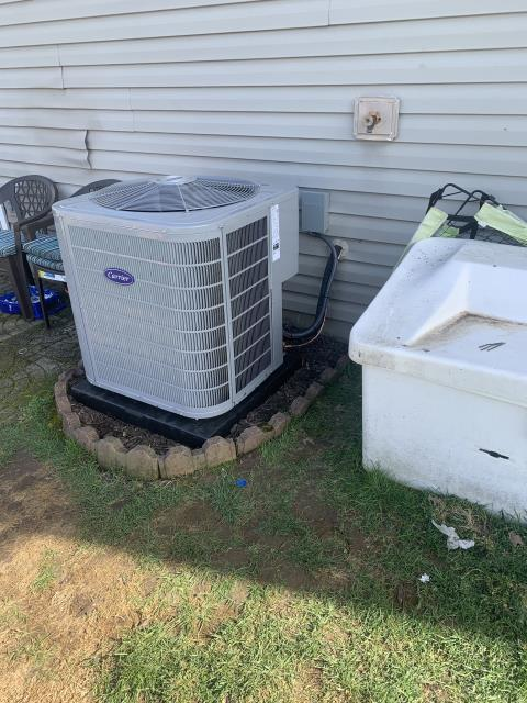 Blacklick, OH - I completed an installation inspection on a Carrier Infinity Series 80% 2 Stage Variable Speed 70,000 BTU Gas Furnace and a Carrier 2 Ton Performance 16 SEER Air Conditioner.  Completed installation checklist.  Cycled and monitored the system.  Operating normally at this time.