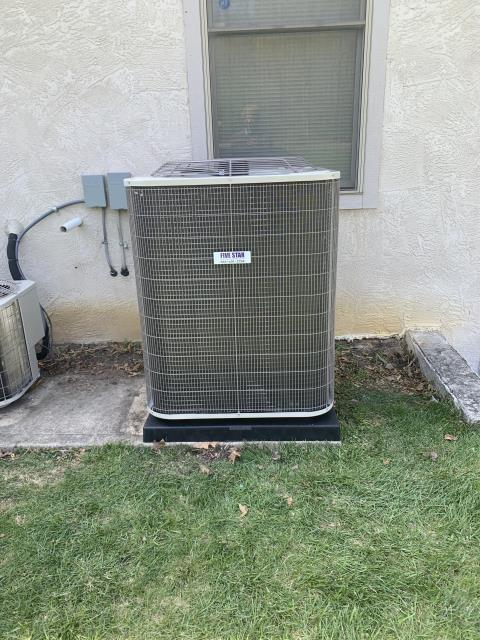 Galena, OH - After removing the Trane Air Conditioner, I installed a Five Star 16 SEER 5 Ton Air Conditioner .  Cycled and monitored the system.  Operating normally at this time.  Included with the installation is a free 1 year service maintenance agreement.