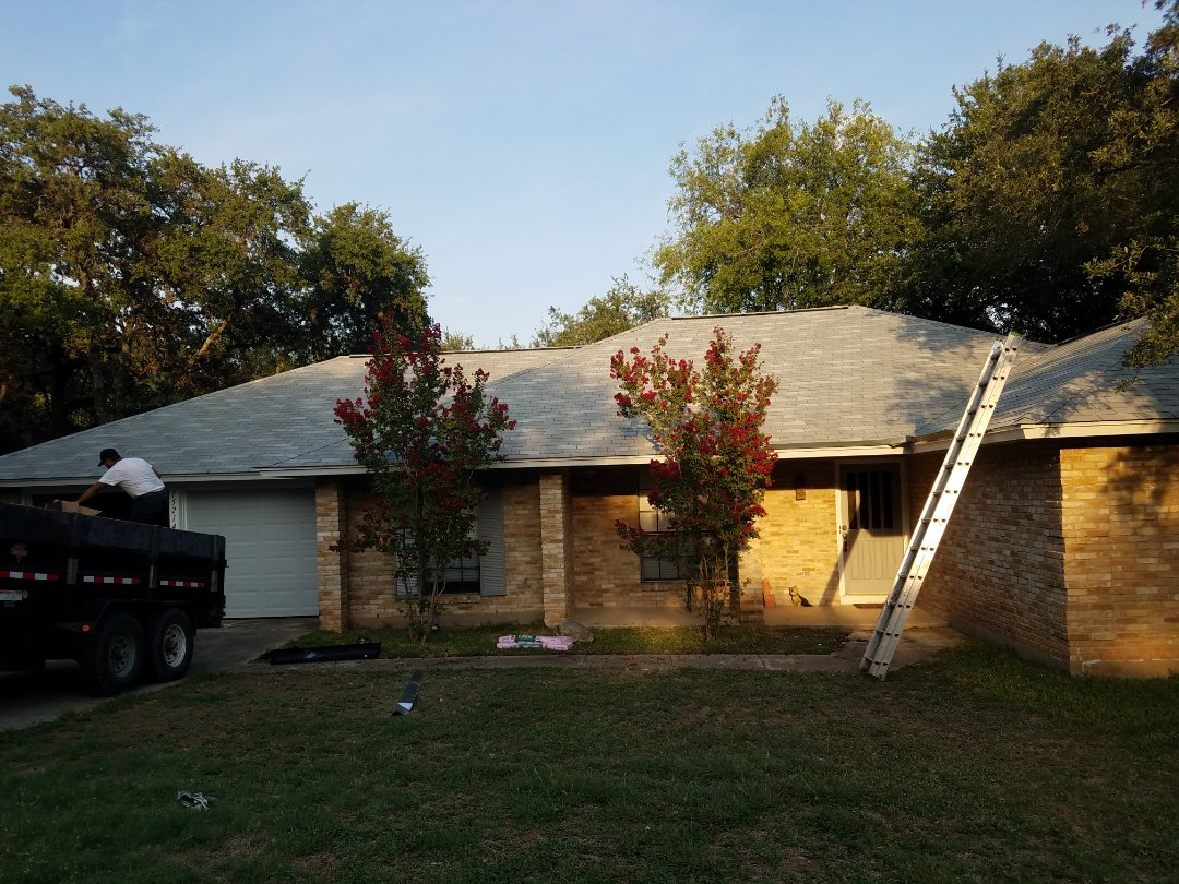 San Antonio, TX - Another beautiful  roof finished. Customer loves the new color .
