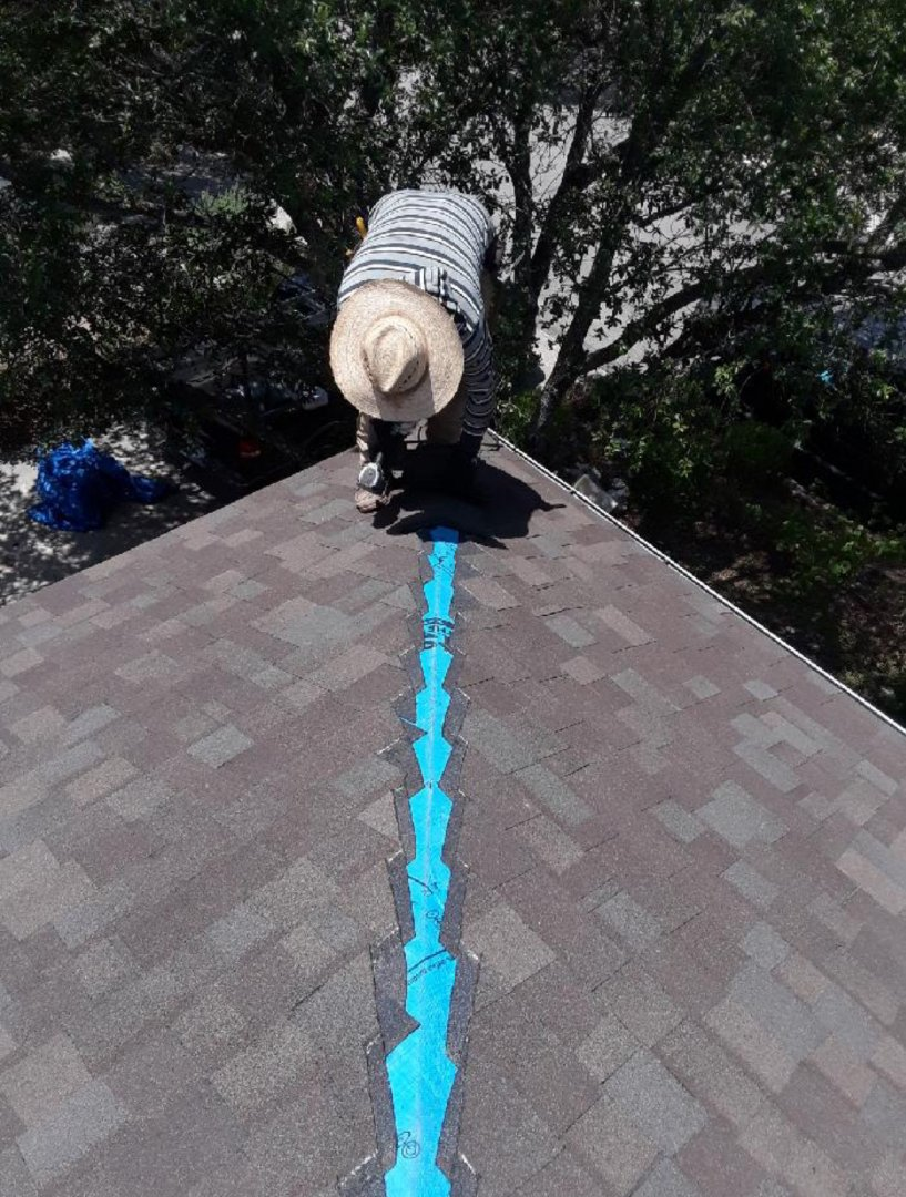 San Antonio, TX - Almost Done . Another roof replacement  after a severe  hailstorm