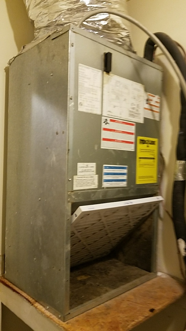 Summerville, SC - Goodman AC maintenance. Cleared condensate drains and replaced air handler and air conditioner capacitors.