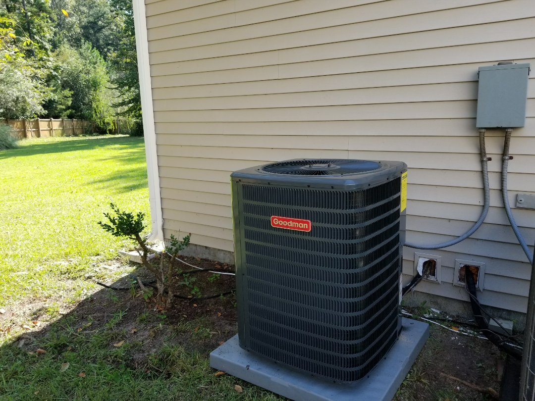 Summerville, SC - 2.5 ton Goodman split system heat pump replacement in the bridge's of Summerville