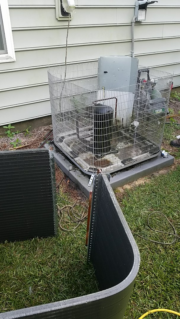 Ladson, SC - Carrier condenser coil replacement in Summerville. Found multiple Freon leaks in coil causing the ac to freeze.