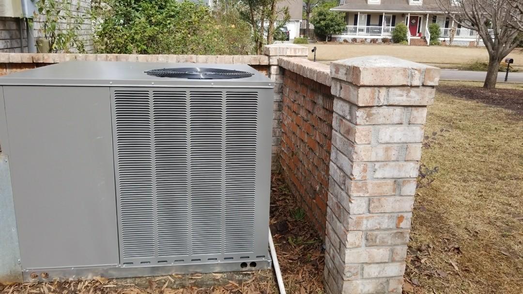 Summerville, SC - 3 ton heat pump Ruud package unit change out!